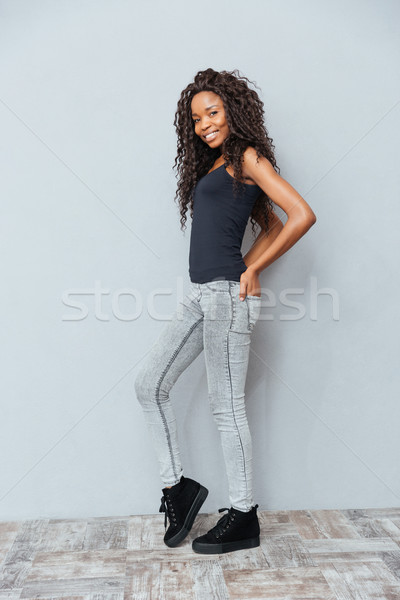 Happy afro american woman  Stock photo © deandrobot