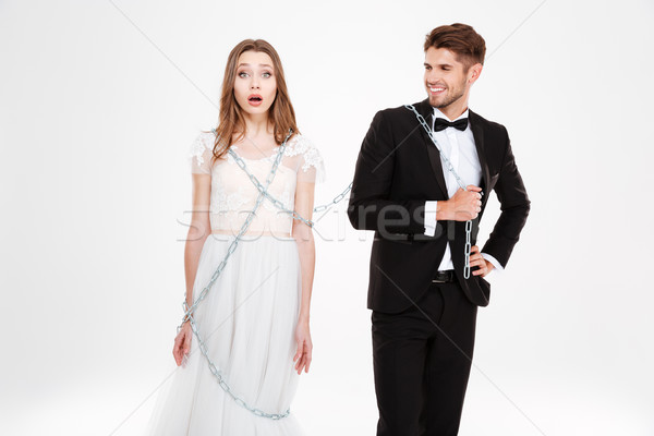 Man binding his woman Stock photo © deandrobot