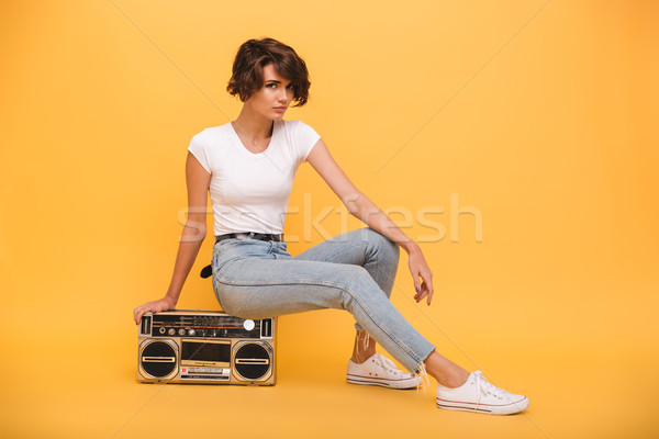 Portrait of an attractive young girl Stock photo © deandrobot