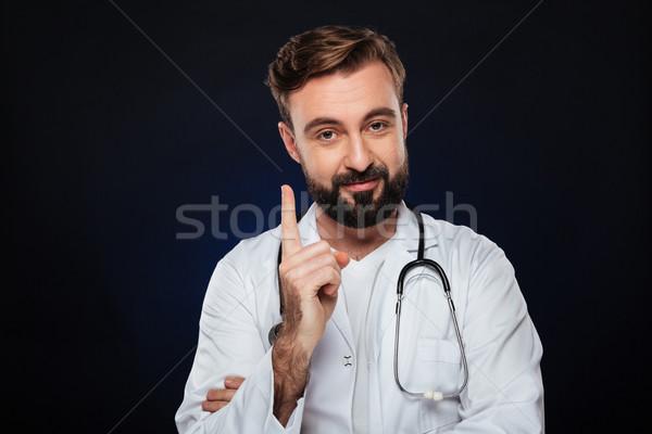 Portre gülen erkek doktor üniforma stetoskop Stok fotoğraf © deandrobot