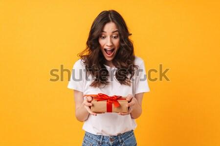 Portret zdenerwowany rozczarowany dziewczyna stałego Zdjęcia stock © deandrobot