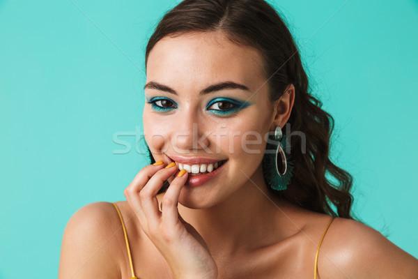 Foto aanbiddelijk meisje 20s Stockfoto © deandrobot