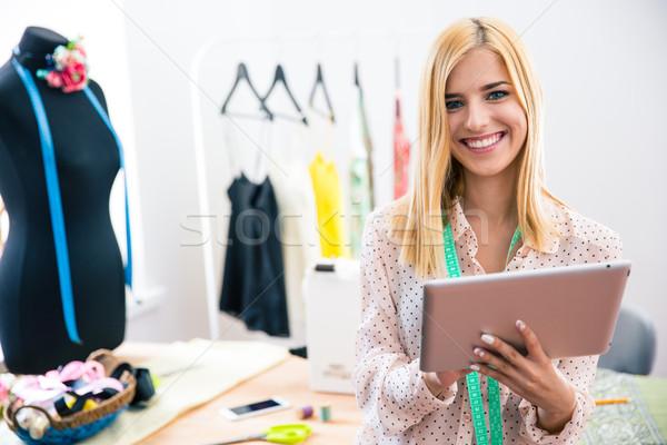счастливым женщины портной семинар Сток-фото © deandrobot