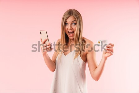 Female teenager showing gesture with crossed fingers Stock photo © deandrobot