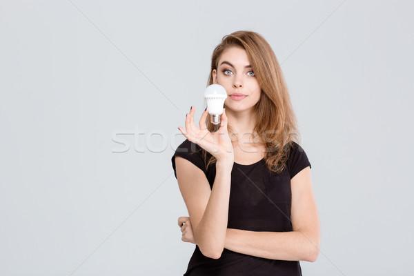 красивая женщина портрет изолированный белый Сток-фото © deandrobot