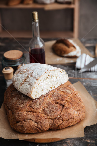 Bread on table Stock photo © deandrobot