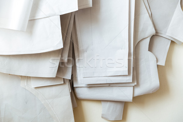 Close up of light fabrics Stock photo © deandrobot