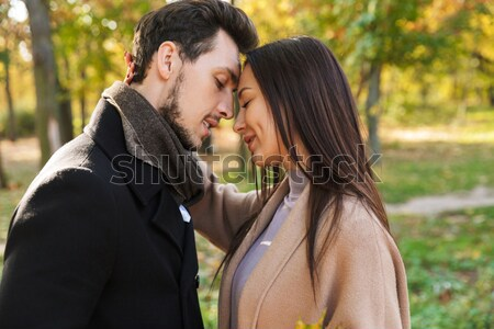 Portrait of a sensual young couple in love Stock photo © deandrobot