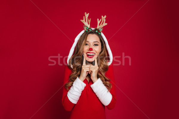 Portrait of a cheerful lovely girl Stock photo © deandrobot