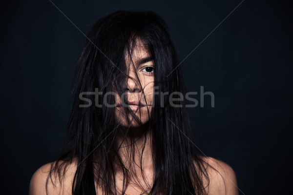 Portrait of tired woman Stock photo © deandrobot