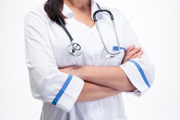 женщины медицинской врач оружия сложенный тело Сток-фото © deandrobot