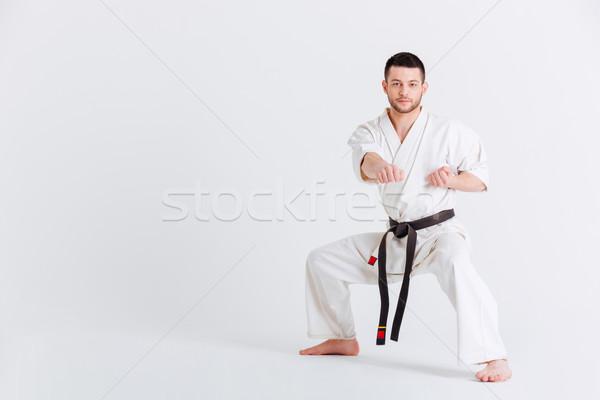 Homme kimono isolé blanche sport Photo stock © deandrobot