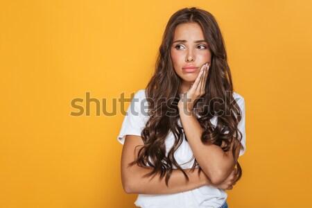 Retrato sexy comer aislado Foto stock © deandrobot