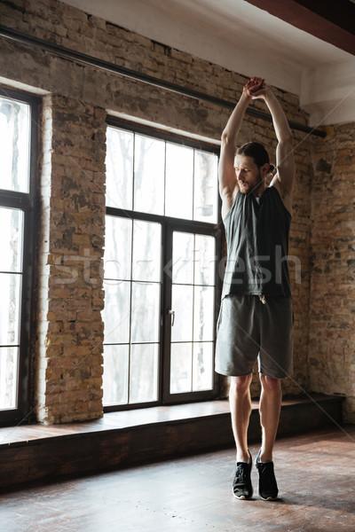 Foto stock: Jóvenes · saludable · atleta · hombre · músculos