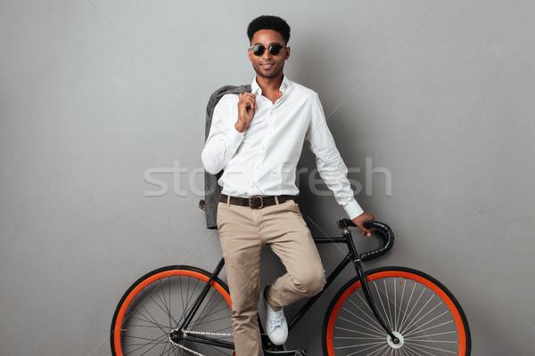 молодые афро американский человека Постоянный Сток-фото © deandrobot