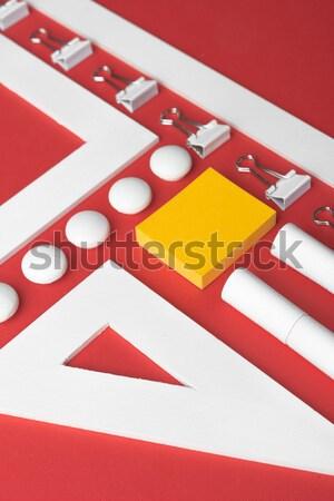事務用品 赤 表 先頭 表示 画像 ストックフォト © deandrobot