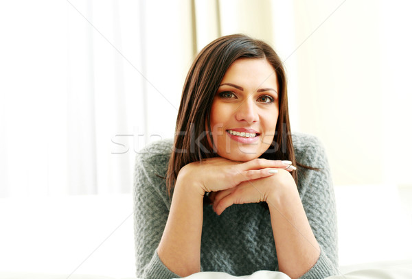 Middle-aged happy woman looking at camera Stock photo © deandrobot