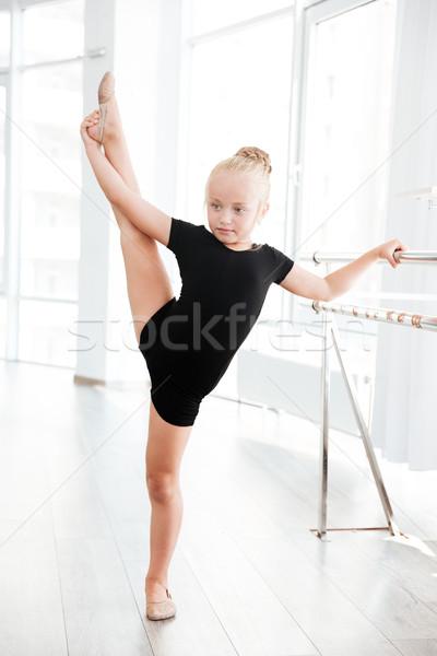 Pequeno bailarina em pé pernas dançar Foto stock © deandrobot