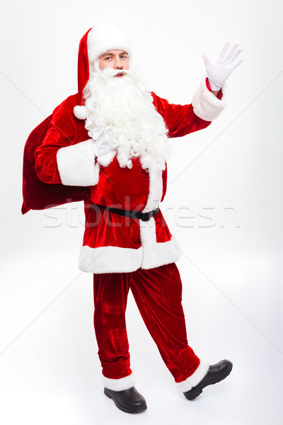 счастливым человека Дед Мороз Постоянный подарок Сток-фото © deandrobot