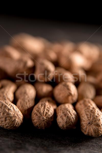 Secas amendoim escuro imagem saúde Foto stock © deandrobot
