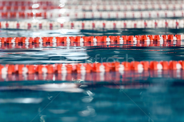 Close up side view of swimming lanes Stock photo © deandrobot