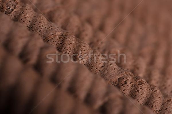 хрустящий шоколадом избирательный подход продовольствие Сток-фото © deandrobot