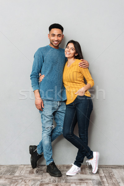 Full-length shot of pretty lovers isolated Stock photo © deandrobot