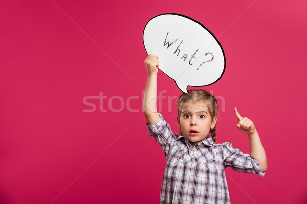 Zdjęcia stock: Dziewczynka · dziecko · dymka · wskazując