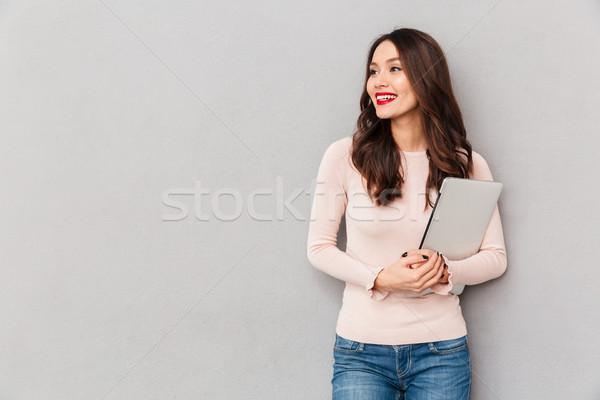 画像 かわいい 女性 美しい 笑顔 ストックフォト © deandrobot