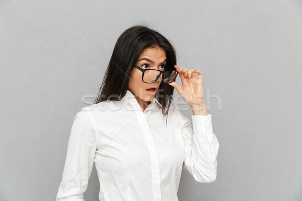Retrato mulher escritório roupa Foto stock © deandrobot