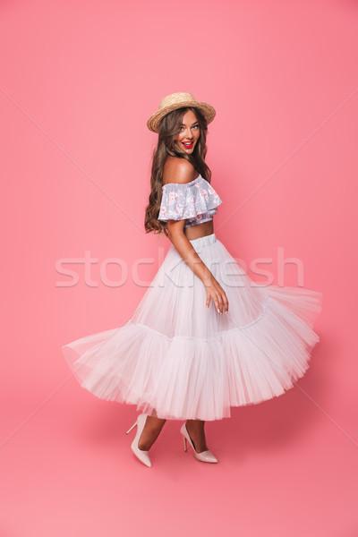 Foto stock: Retrato · adorável · moda · mulher · 20s