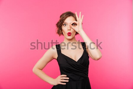 若い女性 水着 長髪 肖像 ストックフォト © deandrobot