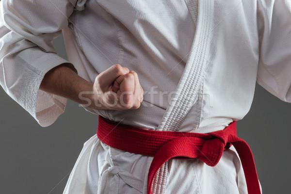 Görüntü genç kimono uygulama karate Stok fotoğraf © deandrobot