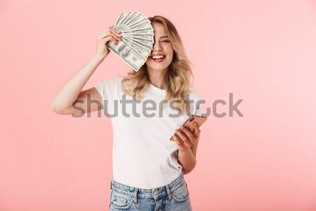肖像 魅力的な ブルネット 女性 30歳代 長髪 ストックフォト © deandrobot