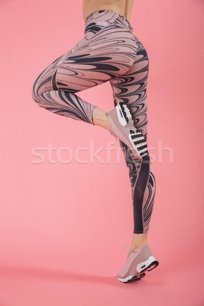 Görüntü şaşırtıcı genç uygunluk spor kadın Stok fotoğraf © deandrobot