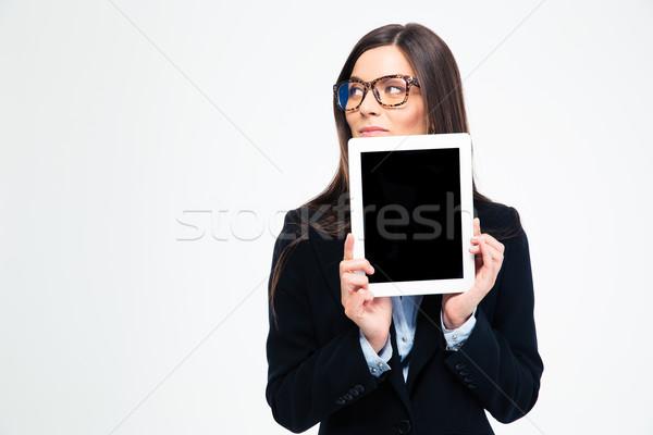 Mujer de negocios tableta gafas Foto stock © deandrobot