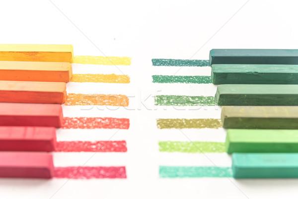 Fotografia kolorowy pastel sztuki edukacji kolor Zdjęcia stock © deandrobot