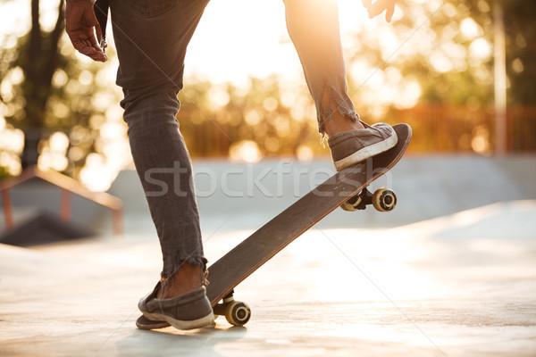 画像 スケート 少年 スケート 公園 ストックフォト © deandrobot