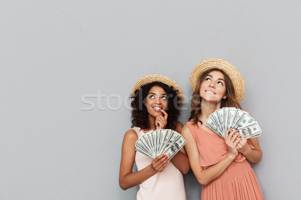 Image of two women with different type of skin wearing summer cl Stock photo © deandrobot