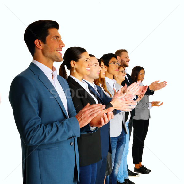 Group of businesspeople applauding Stock photo © deandrobot