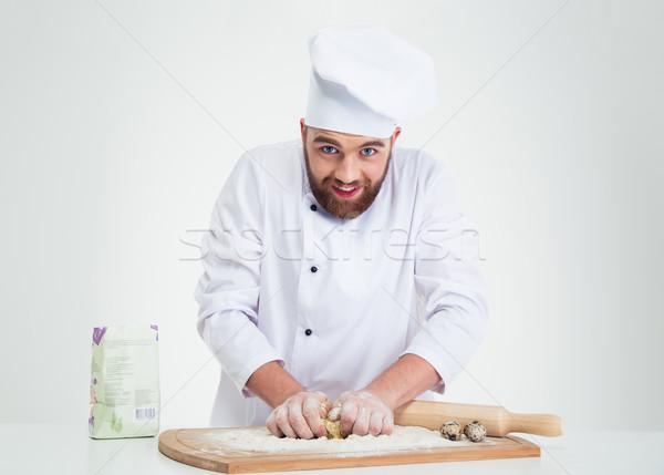 Baker portrait isolé blanche heureux Photo stock © deandrobot