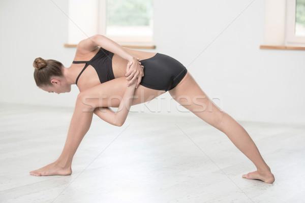 女性 ストレッチング 肖像 若い女性 スポーツ ストックフォト © deandrobot