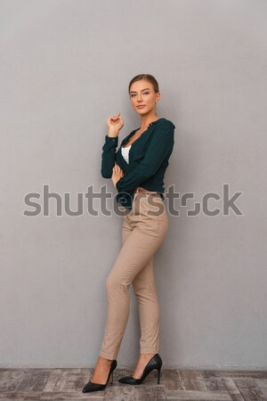 Fat woman in sports wear Stock photo © deandrobot