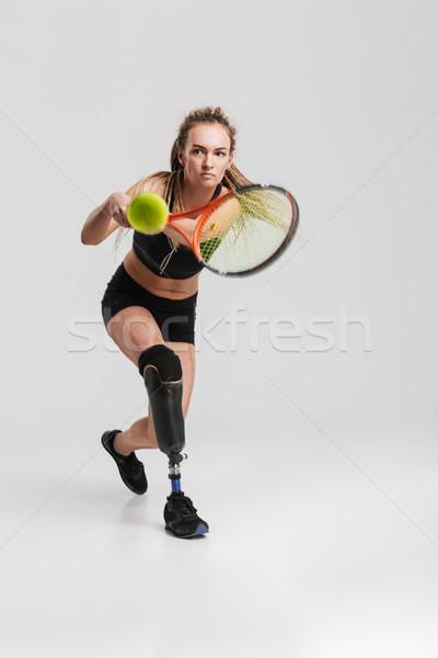 сильный молодые инвалидов изображение Сток-фото © deandrobot