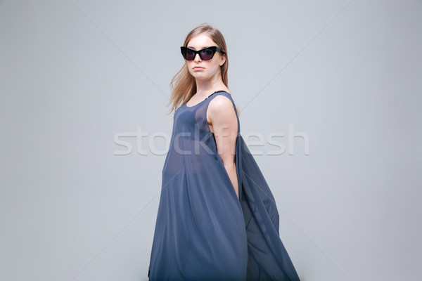 Beautiful woman with sunglasses Stock photo © deandrobot