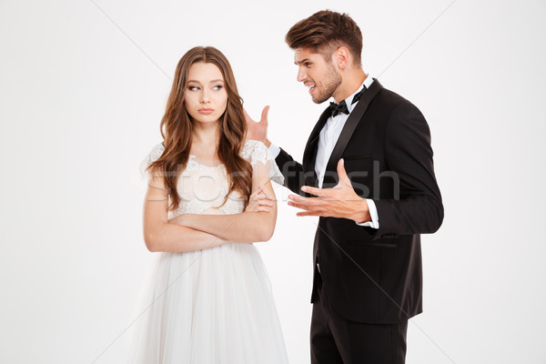 Photo of man argues with a girl Stock photo © deandrobot
