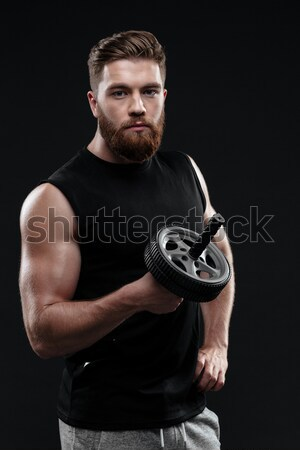 Cool athletic man Stock photo © deandrobot