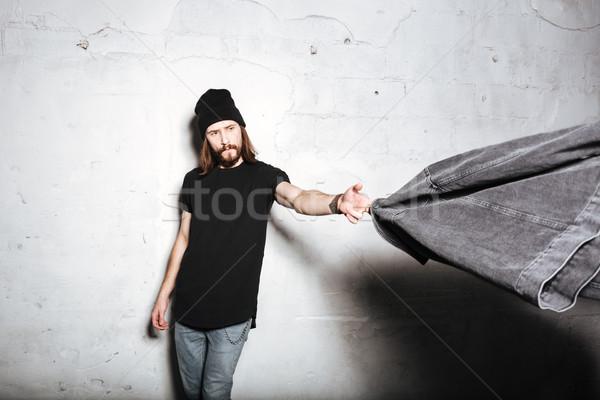 Giovani uomo indossare Hat Foto d'archivio © deandrobot