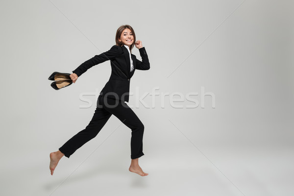 портрет улыбаясь занят деловая женщина Сток-фото © deandrobot