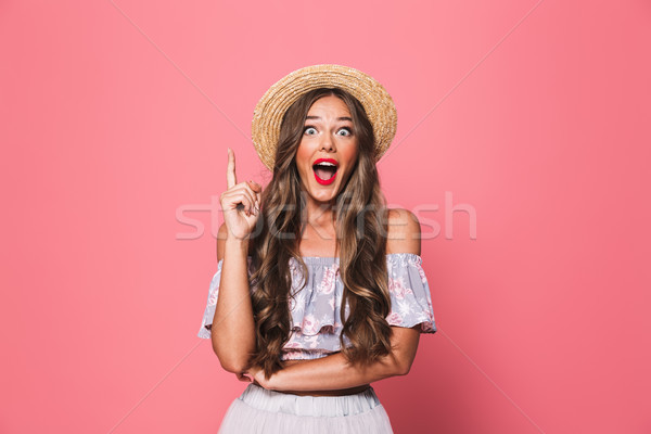 Portret mooie glamour vrouw 20s Stockfoto © deandrobot